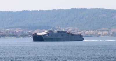 ABD Gemisi Boğaz'da