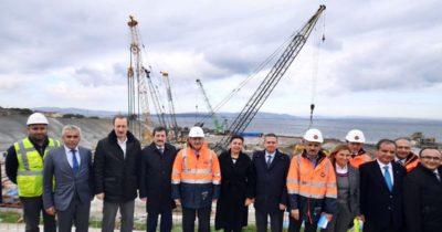 Bakan Turhan, Çanakkale Köprüsünü inceledi…