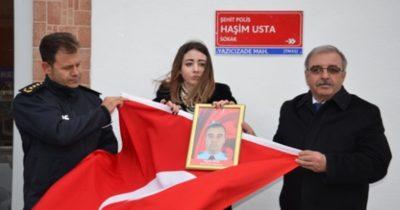 Şehit Polis Usta'nın ismi ölümsüzleştirildi