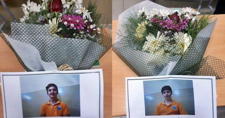 Okul sıralarını çiçeklerle süslediler