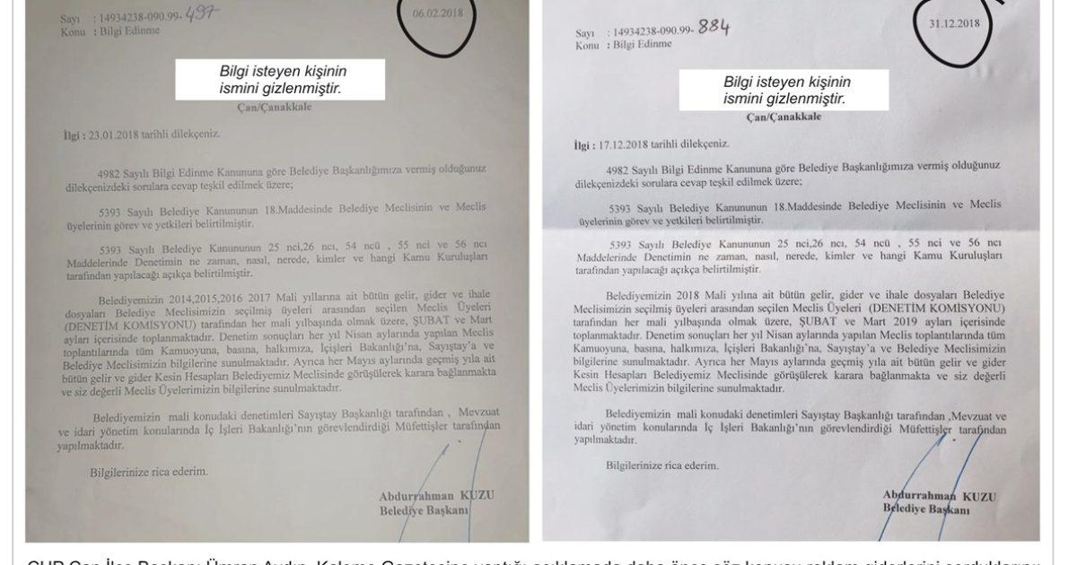 Çan'da belgelerin arkası kesilmiyor