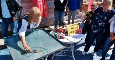 Sokakta sanat yaptılar (VİDEO)