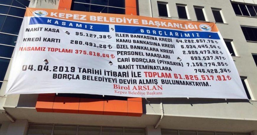 İşte Kepez Belediyesinin borcu