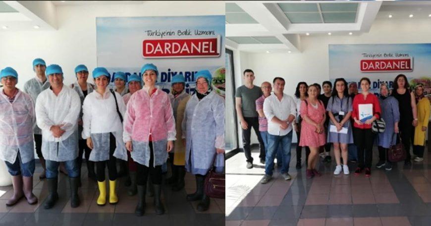 Kursiyerlerden Dardanel fabrikasına ziyaret