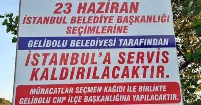 Gelibolu'dan İstanbul'a seçim servisi