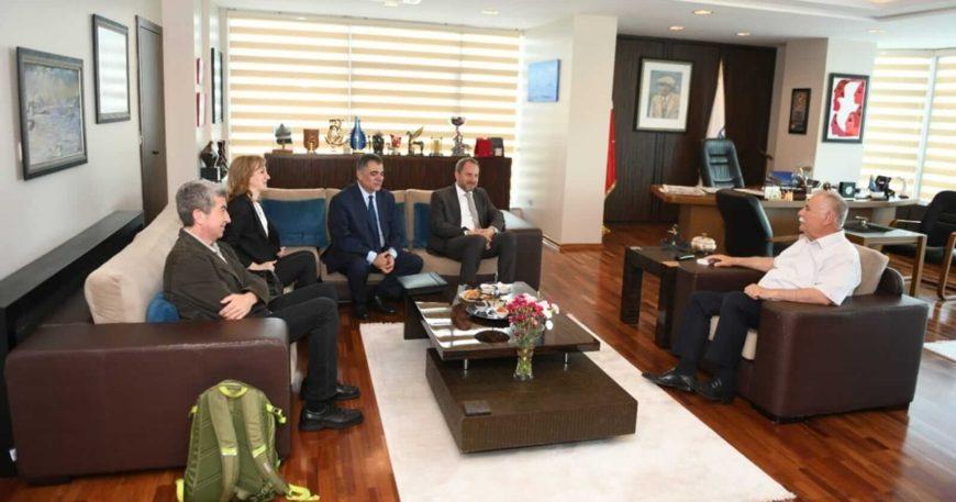 Okyay'dan Başkan Gökhan'a ziyaret
