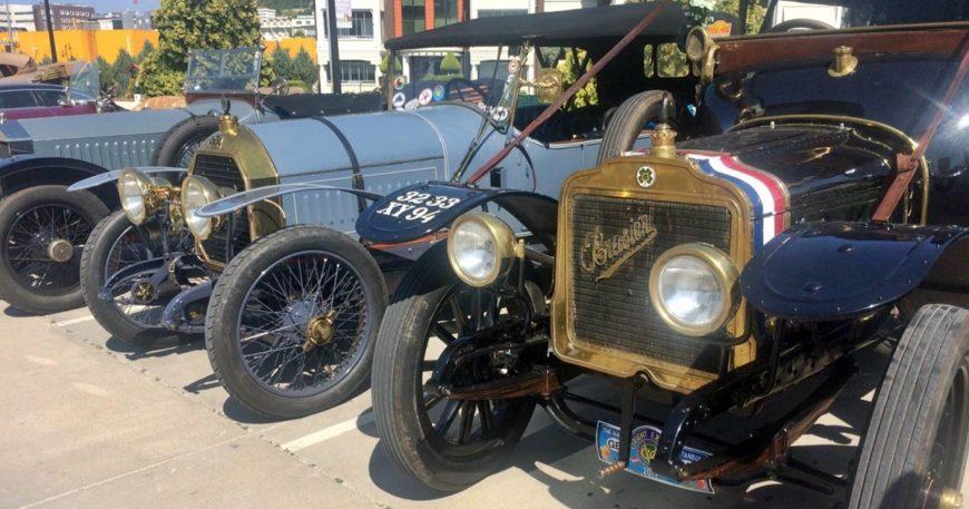 Klasik otomobil tutkunları Çanakkale'de