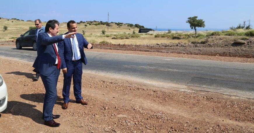 Assos-Behramkale yolu tamamlanıyor