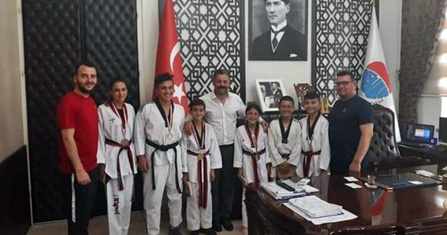 Taekwondoculardan Uygun'a ziyaret
