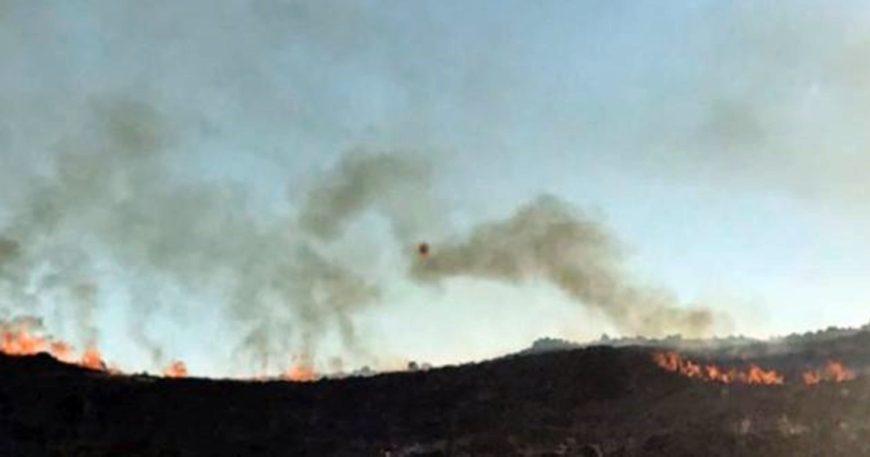 Gökçeada'da yangın paniği