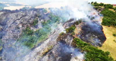 Gelibolu'da korkutan yangın