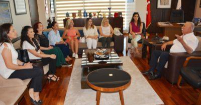 Girişimci kadınlardan Başkan Gökhan'a ziyaret