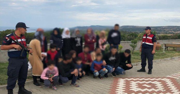 Çanakkale'de düzensiz göçmen operasyonu