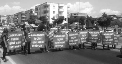 Aliağa işçileri Çanakkale yolunu kesti