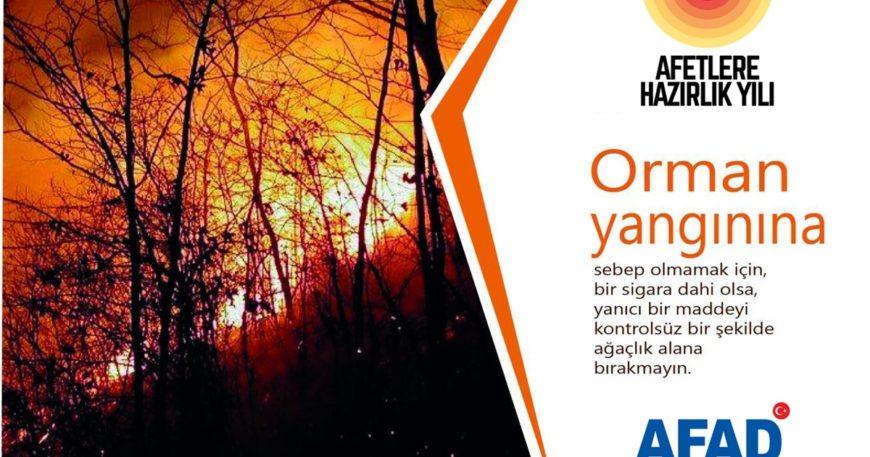 AFAD yangınlara karşı uyardı