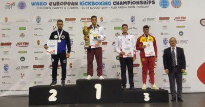 Çanakkaleli sporcu Hasan Akçalı Avrupa üçüncüsü