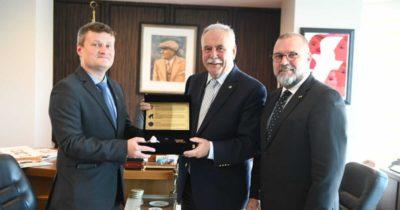 Konsolos Shved'den Başkan Gökhan'a Ziyaret