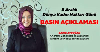 """Aydoğan'dan """"5 Aralık"""" mesajı"""