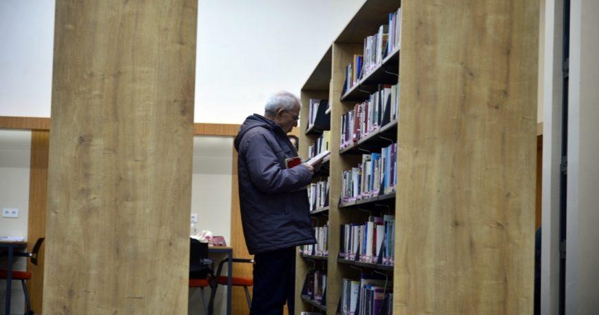 7/24 açık modern kütüphane