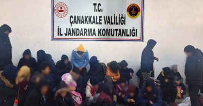 Ayvacık'ta göçmen kaçakçılığı operasyonu