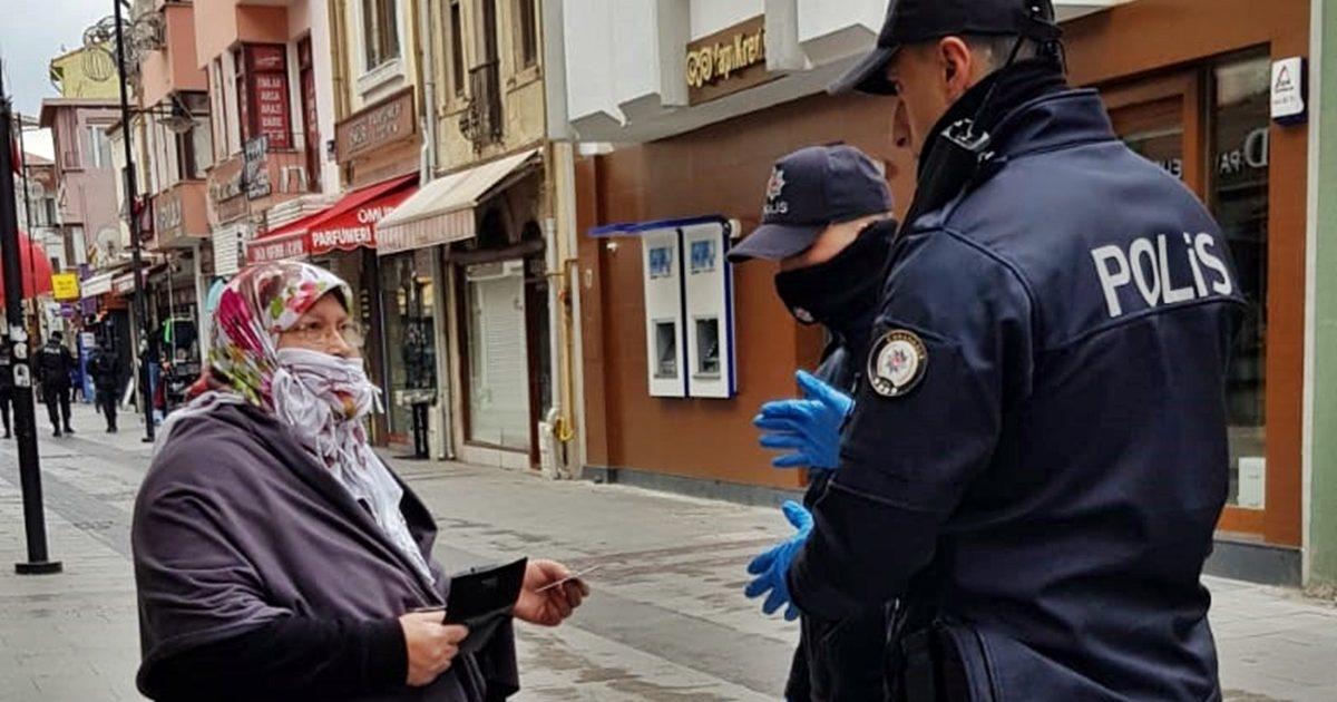 Polisten 65 yaş üstü denetimi