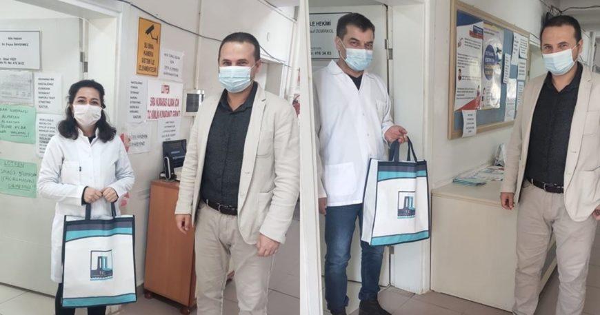 Kaymakamlıktan sağlık personeline koruyucu ekipman