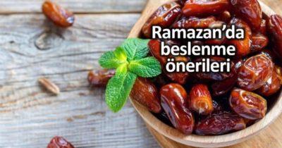 Karantina dönemindeki Ramazan ayında nasıl beslenmeliyiz?