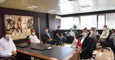 CHP'li heyetten Öz'e ziyaret