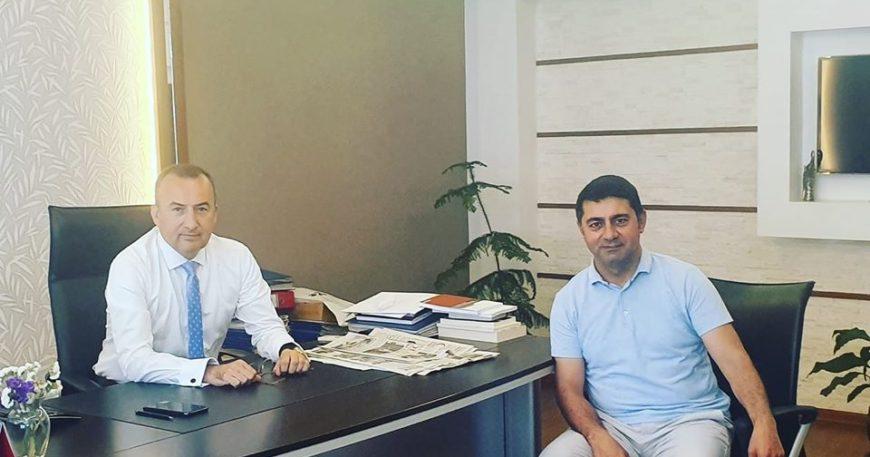 Ankara'dan dönen Şarlan'ı ziyaret etti