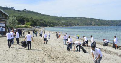 Güzelyalı Halk Plajı temizlendi (Videolu)