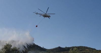 Behramkale'de yangın