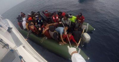 45 sığınmacı kurtarıldı