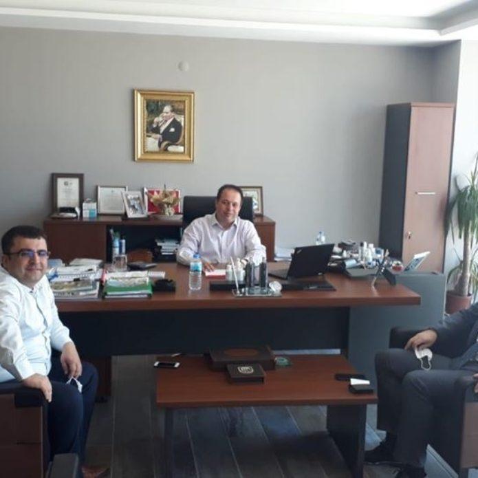 Halk Bankası yetkililerinden Üzen'e ziyaret