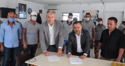 Karabiga Belediyesinde toplu sözleşme sevinci