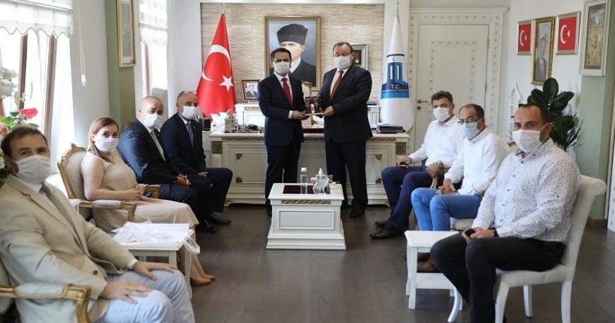 Biga TSO heyetinden Vali Aktaş'a ziyaret
