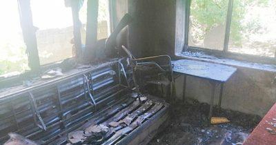 Ayvacık'ta ev yandı: 2 yaralı