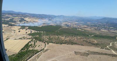 Özbek Köyü'nde yangın