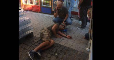 İkinci kattan düşen vatandaş yaralandı