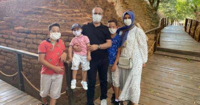 Başkan hafta sonunu ailesiyle geçirdi