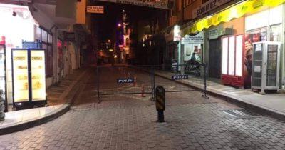O mahallelere giriş çıkışlar kapatıldı