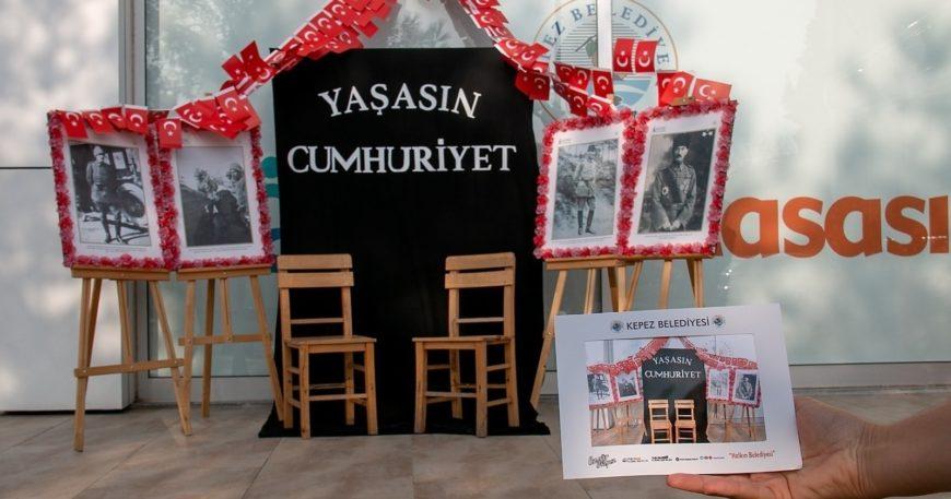 'Yaşasın Cumhuriyet' fotoğraf köşesi hazırlandı