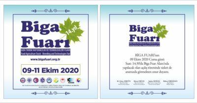 Biga Fuarı 9 Ekim'de açılıyor