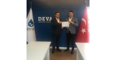 DEVA Partisi Yenice Kurucu İlçe Başkanı belli oldu