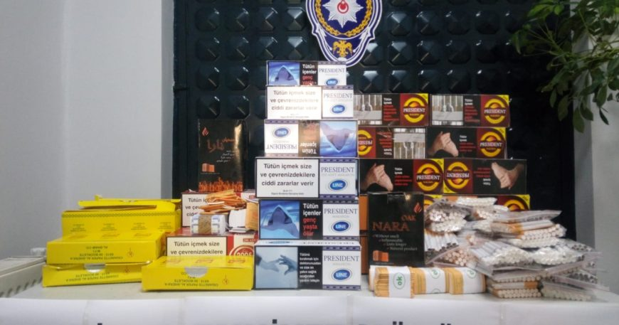 Kaçak tütünler ele geçirildi