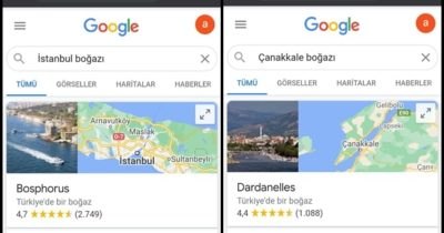 Google, Çanakkale Boğazı'nın adını Yunanca karşılığı ile değiştirdi!