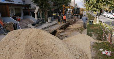 Kanalizasyon boruları yenileniyor