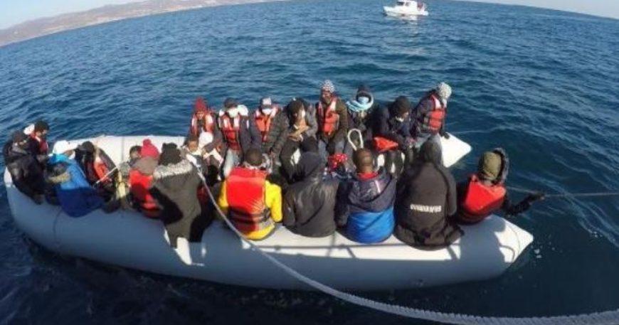 Ayvacık'ta 80 kaçak göçmen yakalandı