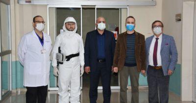 Pandemi hastanesine GESTAŞ'tan HEPA filtreli solunum cihazı