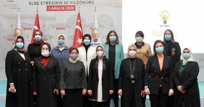Türk kadınının haklarını programla kutladılar