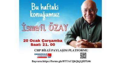 İsmail Özay'la Çanakkale siyasi tarihi konuşulacak